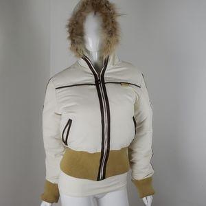 Rocawear jacket with faux fur hoodie